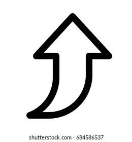 curved up arrow