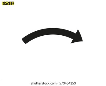 curved arrow vector images stock photos vectors shutterstock rh shutterstock com curved arrow vector file curved arrow vector png