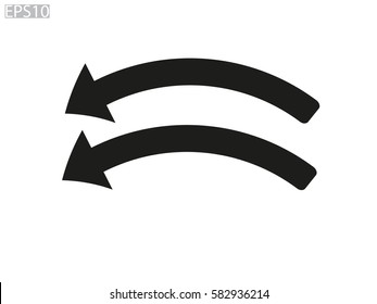 curved arrow icon, vector illustration eps10