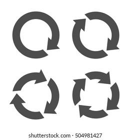 Curved Arrows Illustration