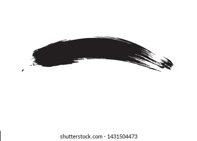 Curved Brush Stroke . Vector Logo Design Template .
