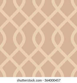 Curved diamond trellis pattern seamless vector background tile