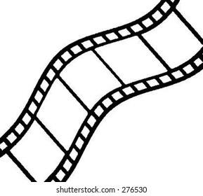 Curved filmstrip vector.