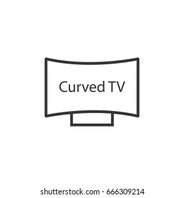 curved led tv icon