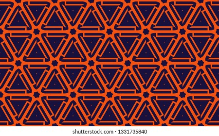 Curved line. Triangular style. Vector illustration