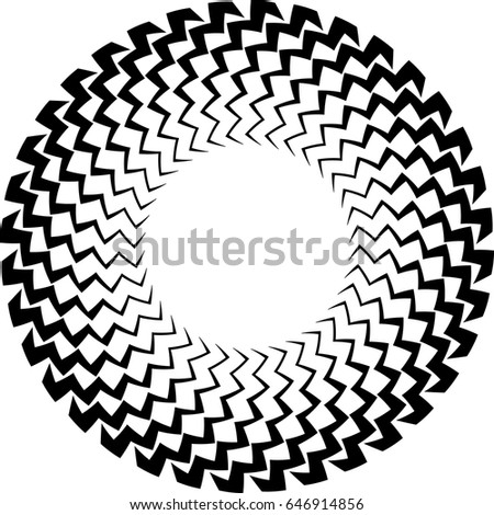 Curved Lines Circle Form Round Logo Stock Vector Royalty Free