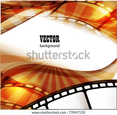 Curved Photographic Film Vector Stock Vektorgrafik Lizenzfrei