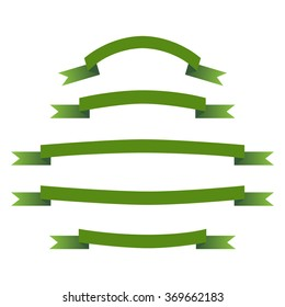 Curved  vector ribbons, banners, streamers