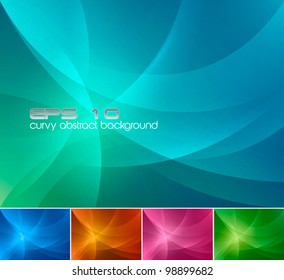 Curvy Abstract Background. A set of curvy abstract background, available in 4 different colors