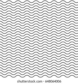 Curvy Black Wave Pattern