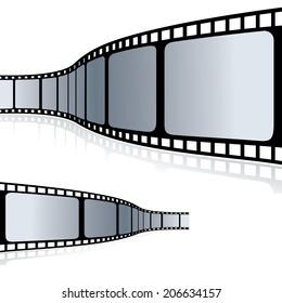 Curvy Filmstrip- Vector