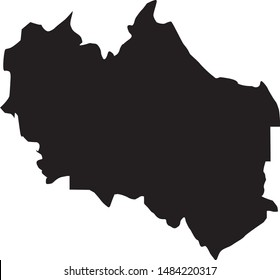 Custer county map in state of Idaho