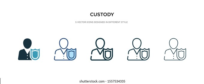 custody icon in different style vector illustration. two colored and black custody vector icons designed in filled, outline, line and stroke style can be used for web, mobile, ui
