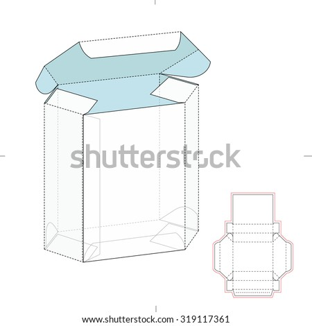 Custom Box Design Die Line Template Stock Vector Royalty Free
