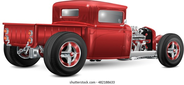 custom hot rod editable in layers