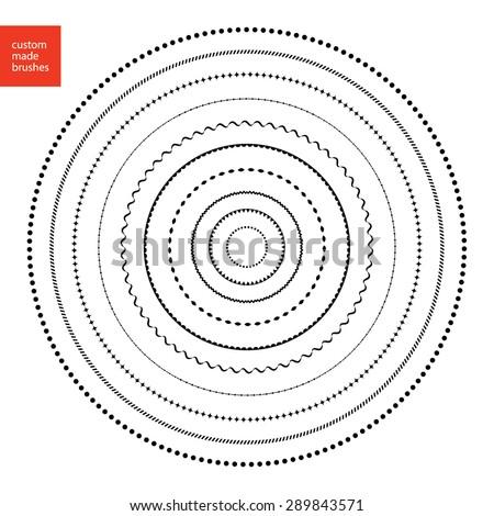 Custom Made Brushes Frames Circle Shape Stock Vector (Royalty Free ...
