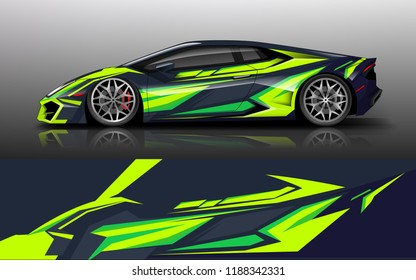 Custom modification car wrap. wrap design for custom modification car