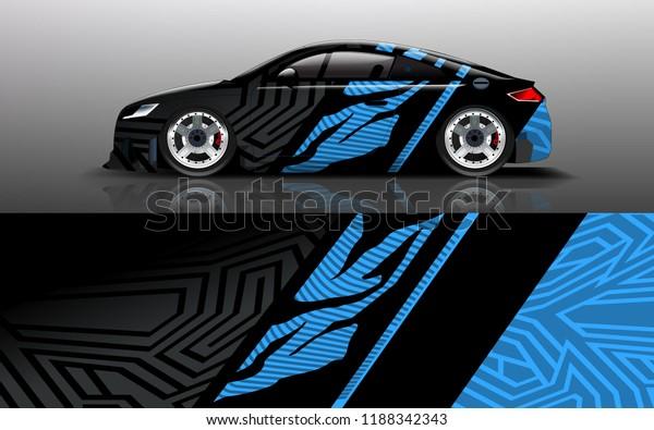 Custom Modification Car Wrap Wrap Design Stock Vector (Royalty Free