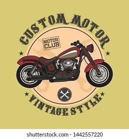 custom motor vintage and retro style
