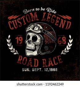 custom motorcycle skull rider