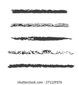 Custom pastel brush set for design strokes, textures and decoration.