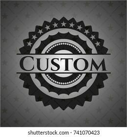 Custom realistic dark emblem