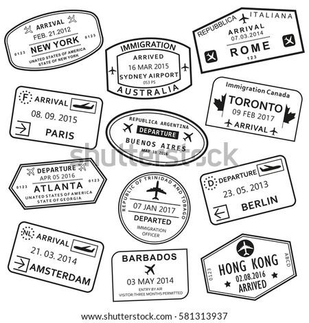Poster: Custom and travel passport