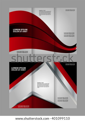 Custom Trifold Brochure Template Works Great Stock Vector Royalty
