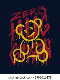 custom typography with a bear  illustration in graffiti style
