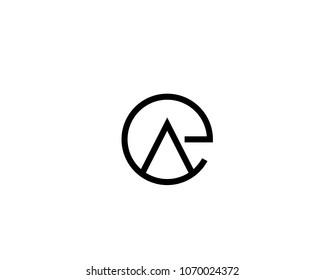 A Custom,Abstract and unique alphabet letter EA,AE,A and E logo design