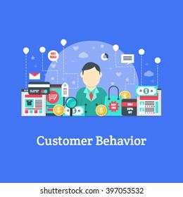 Customer Behavior - Marketing Vector