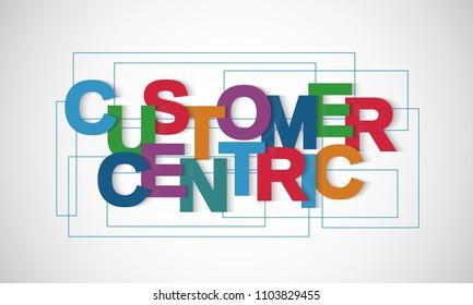 Customer centric vector letter