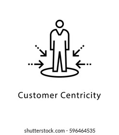 Customer Centricity Vector Line Icon