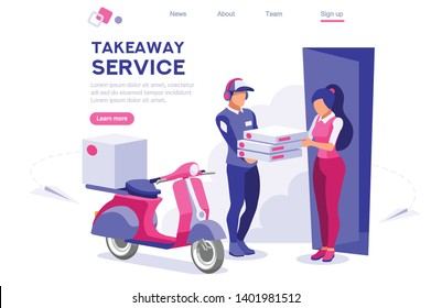 Customer Delivery Character. Order Transportation, Male Occupation. Customer Commercial Order Concept for web Banner Infographics Images. Flat Isometric Illustration Isolated on White Background