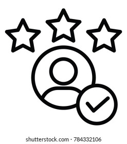 Customer experience and feedback line design icon