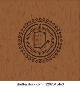 customer feedback icon inside wood signboards