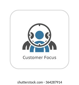 Customer Focus Icon. Flat Design. Business Concept. Isolated Illustration.