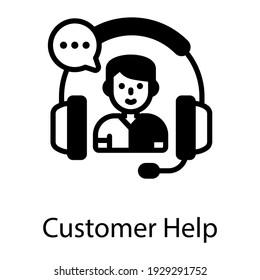 Customer help filled icon design