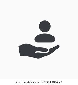 Customer icon. Customer Retention Vector Icon. Patient assistance icon