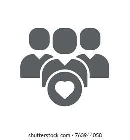 customer icon vector. customer glyph style design