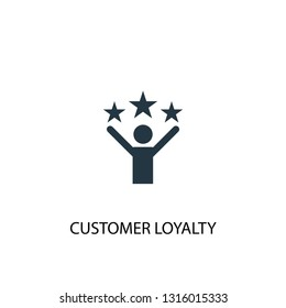 customer loyalty icon. Simple element illustration. customer loyalty concept symbol design. Can be used for web and mobile.