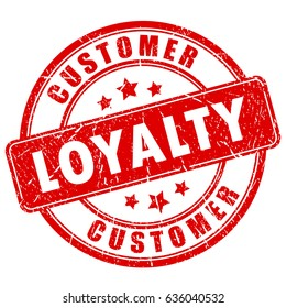 Customer loyalty ink business vector stamp on white background