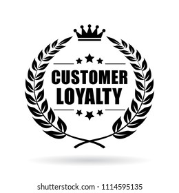 Customer loyalty vector icon isolated on white background