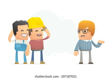 customer is not satisfied with the work. conceptual illustration