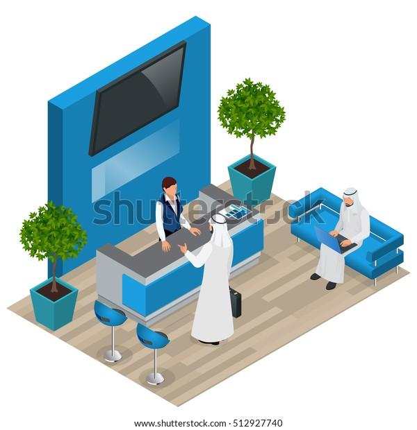 Office Receptiondesign: Customer Reception Reception Service Hotel Desk Stock