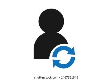 Customer renew icon blue version