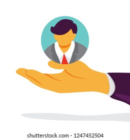 Customer retention concept. Attract the audience as marketing strategy. Traffic increase. Isolated vector flat illustration
