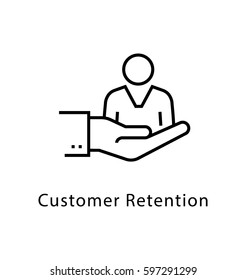 Customer Retention Vector Line Icon