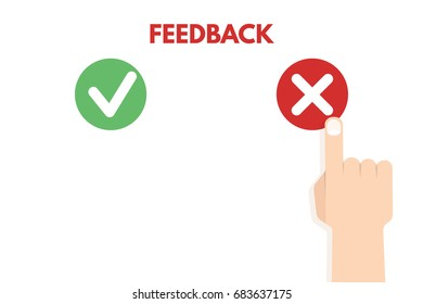 Customer review. Positive and negative feedback concept. Vector illustration