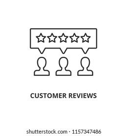 Customer reviews vector icon outline style